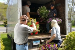 unloading the flowers