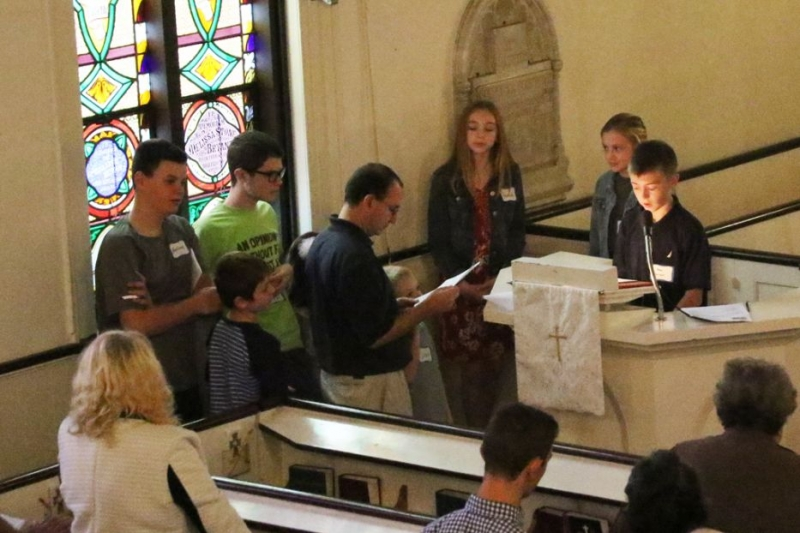 kids doing gospel