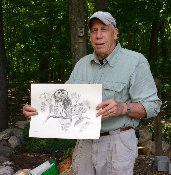 Steve Fish with owl pic